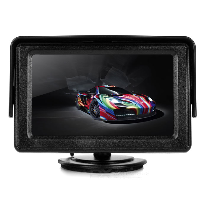 "Car Sun Visor 4.3"" Rearview Displayer Monitor w/ Stand - Black"