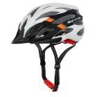 TOPCYCLING Outdoor Cycling EPS One-Piece Helmet w/ Detachable Brim - Black + White