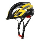 TOPCYCLING Outdoor Cycling EPS One-Piece Helmet w/ Detachable Brim - Black + Yellow