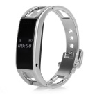 "D8 Outdoor Sports 0.49"" OLED Bluetooth V3.0 Smart Wrist Watch w/ Pedometer + More - Bright Silver"
