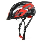 TOPCYCLING Outdoor Cycling EPS One-Piece Helmet w/ Detachable Brim - Black + Red