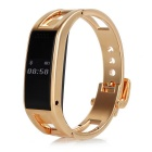 "D8 Outdoor Sports 0.49"" OLED Bluetooth V3.0 Smart Wrist Watch w/ Pedometer + More - Golden"