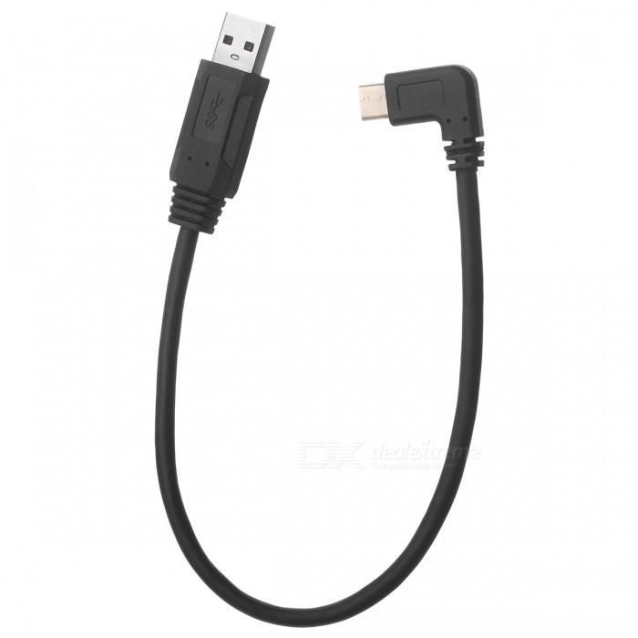 Cwxuan USB 3.1 Type C to USB 3.0 Data & Charging Cable - Black (20cm)