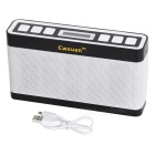 Bluetooth V3.0 Speaker w/ Aux, TF, FM, White+RGB Light - Black + White
