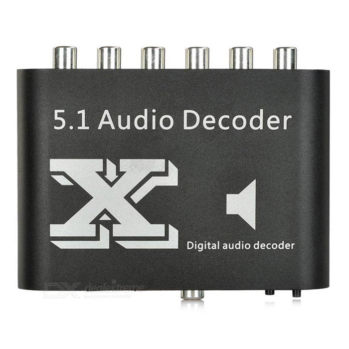 5.1-CH DTS / AC-3 Digital Audio Decoder w / optisch / koaxial / RCA / 3,5 mm - Black + White