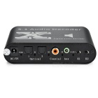 5.1-CH DTS / AC-3 Digital Audio Decoder w/ Coaxial, RCA - Black+ White