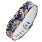 Rose Style Large Sports TPE + TPU Wrist Band for Fitbit Flex - Black