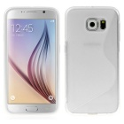 ENKAY S Shape Protective TPU Back Case Cover for Samsung Galaxy S6 G9200 - White