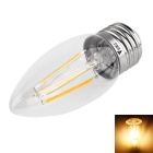 WaLangTing E27 4W COB LED Decorative Bulb Warm White Light 3200K 350lm - Silver (AC 220~240V)