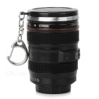 Creative DSLR Lens Style Mini ABS Cup Bottle w/ Keyring - Black + Red (200ml)