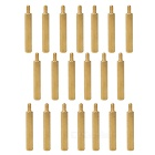 M3 30+6mm Hex Brass PCB Installing Screw Pillars - Golden (20 PCS)