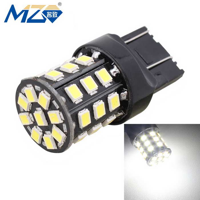 MZ T20 3.3W LED Car Brake Lamp White 330lm w/ Constant Current - Black