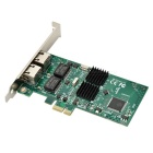 Dual PCI-E Gigabit Ethernet Network Card w/ RJ45 - Multi-Colored