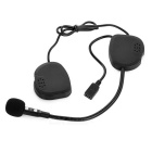 Bluetooth V3.0 Walkie Talkie Helmet Earphone w/ Mini USB - Black