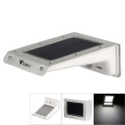 WaLangTing 0.66W 6200K 110lm White Light 20-LED Outdoor Solar Lamp w/ Motion & Light Sensor - Silver