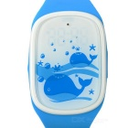 Cute Smart Wrist Watch w/ GPS Positioning / SOS / Pedometer for Kids - Blue + White