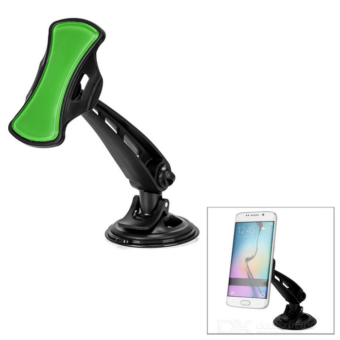 360' Rotary Suction Cup Mini Short Car Mount for GPS / Phones - Black