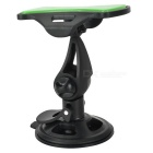 360' Rotary Suction Cup Mini Short Car Mount for Phones / GPS - Black