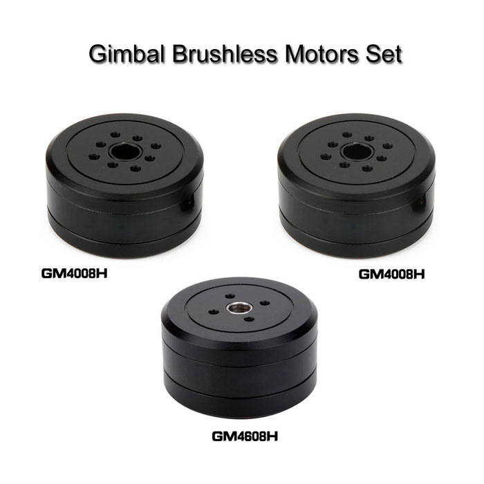 Brushless Gimbal Motors Set para Mini Câmera DSLR Nex6 / Nex7 - Preto