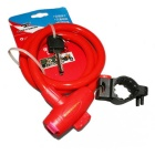 ROBESBON Anti-Theft Bicycle Wire Lock for Mountain Bike - Red (1m)