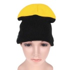 MZ010 Wireless Music Bluetooth V3.0 Smart Warm Knitted Hat w/ Hand-free Calls - Black + Yellow