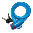 ROBESBON Anti-Theft Security Bicycle Wire Lock for Mountain Bike - Blue + Red (1m)