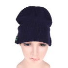 Stylish Wireless Bluetooth V3.0 Warm Music Hat w/ Hands-Free Calling for Cell Phone - Navy Blue