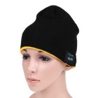 MZ012 Wireless Music Bluetooth V3.0 Smart Warm Knitted Hat w/ Hand-free Calls - Black + Yellow