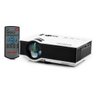 UNIC UC40 tragbare Mini-LCD-Projektor w / HDMI / 3,5 mm / SD Slot / AV / VGA / USB - White + Black