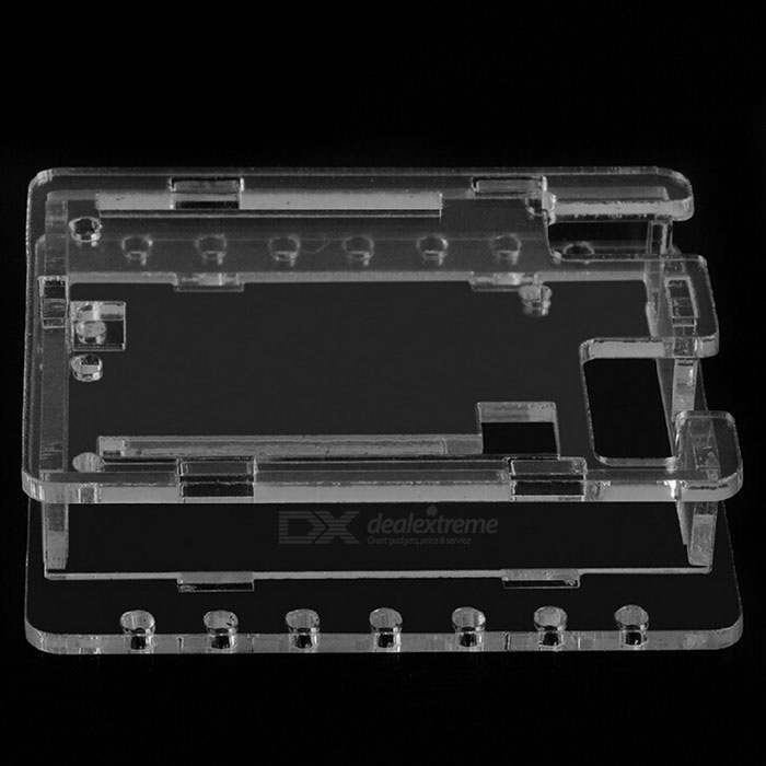 R3-100 Protective Acrylic Case Shell for Arduino UNO R3Other Accessories<br>ColorTransparentModelR3-100Quantity1 SetMaterialAcrylic + metalEnglish Manual / SpecNoPacking List1 x Case1 x Pack of screws<br>