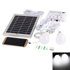 WaLangTing 4.5W 180lm 6500K Solar Powered LED 2-Bulbs + Solar Panel Set - Silver + White