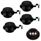 YouOKLight 0.5W 3-LED Mini Waterproof Solar Powered Fence / Garden / Sink Lamp Warm White (4 PCS)