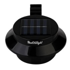 Youoklight 3-LED mini impermeável solar powered lâmpada - preto (4PCS)