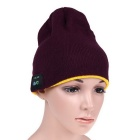 MZ012 Wireless Music Bluetooth V3.0 Smart-Warm Knitted Hat w / Hand freie Anrufe - Rot + Gelb