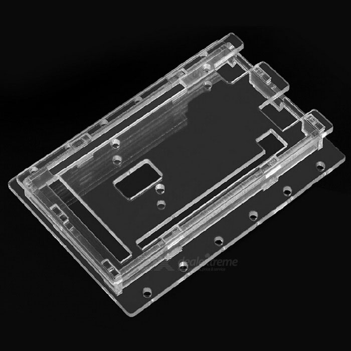 R3-101 Protective Acrylic Case Shell for Arduino MEGA2560 R3Other Accessories<br>Form ColorTransparentModelR3-101Quantity1 DX.PCM.Model.AttributeModel.UnitMaterialAcrylic + metalEnglish Manual / SpecNoDownload Link   N/APacking List1 x Case1 x Pack of screws<br>