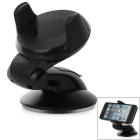 360' Rotary Suction Cup Mini Car Stand Mount Holder for 5.5~8.3cm Cell Phones - Black