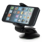 360' Rotary Suction Cup Mini Car Mount for 5.5~8.3cm Phones - Black