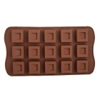 Grid 15-Cup DIY Silicone Chocolate / Cake / Soap Mold - Chocolate