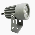 JIAWEN Wired 3W 3-COB LED 270lm Warm White Light Lawn Lamp - Gray