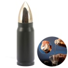 Fashion Stainless Steel Bullet Style Vacuum Cup - Black + Golden (350ml)