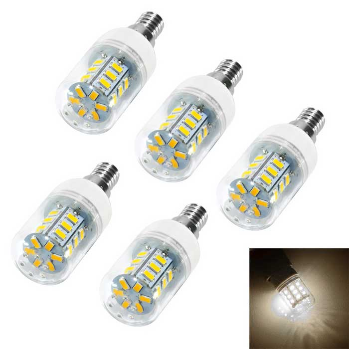 JIAWEN E14 4W LED Corn Lamp Bulb Warm White Light 500lm 24-SMD (5PCS)