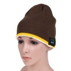 MZ012 Wireless Music Bluetooth V3.0 Smart-Warm Knitted Hat w / Hand-freie Telefonieren - Khaki Gelb +