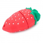 Strawberry formad USB 2.0 Flash/hoppa driva med halsrem (4GB)