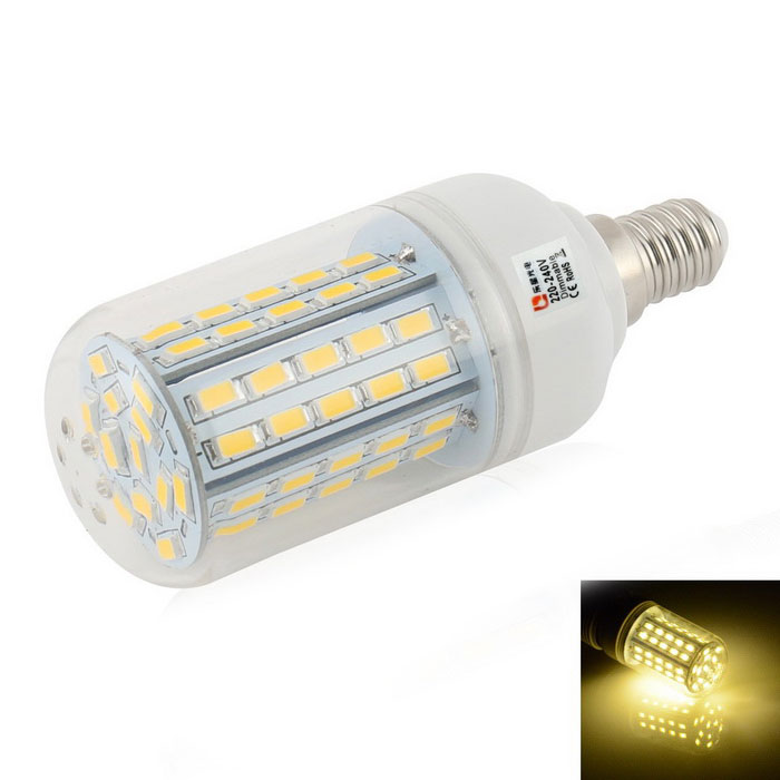 LeXing Lighting Dimmable E14 8W LED Corn Light Warm White Light 72-SMD