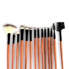 18-in-1 cosmetische make-up kwasten set - zwart + bruin
