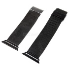 Mini Smile Stainless Steel Watch Band for 38mm APPLE WATCH - Black