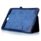 Protective Flip-Open PU Case w/ Stand for Samsung T350 - Dark Blue