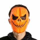 Pumpkin Style Halloween Face Mask - Orange + Black