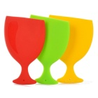 Portable Outdoor Travelling Camping Silicone Collapsible Folding Drinking Cup /  Wine Goblet (3pcs)