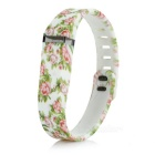 Replacement Rose Style Large Sports TPE + TPU Wrist Band w/ Clasp for Fitbit Flex Smart Bracelet